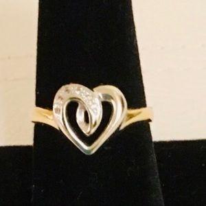 Jewelry - Authentic 14K Gold & Diamond Ring.